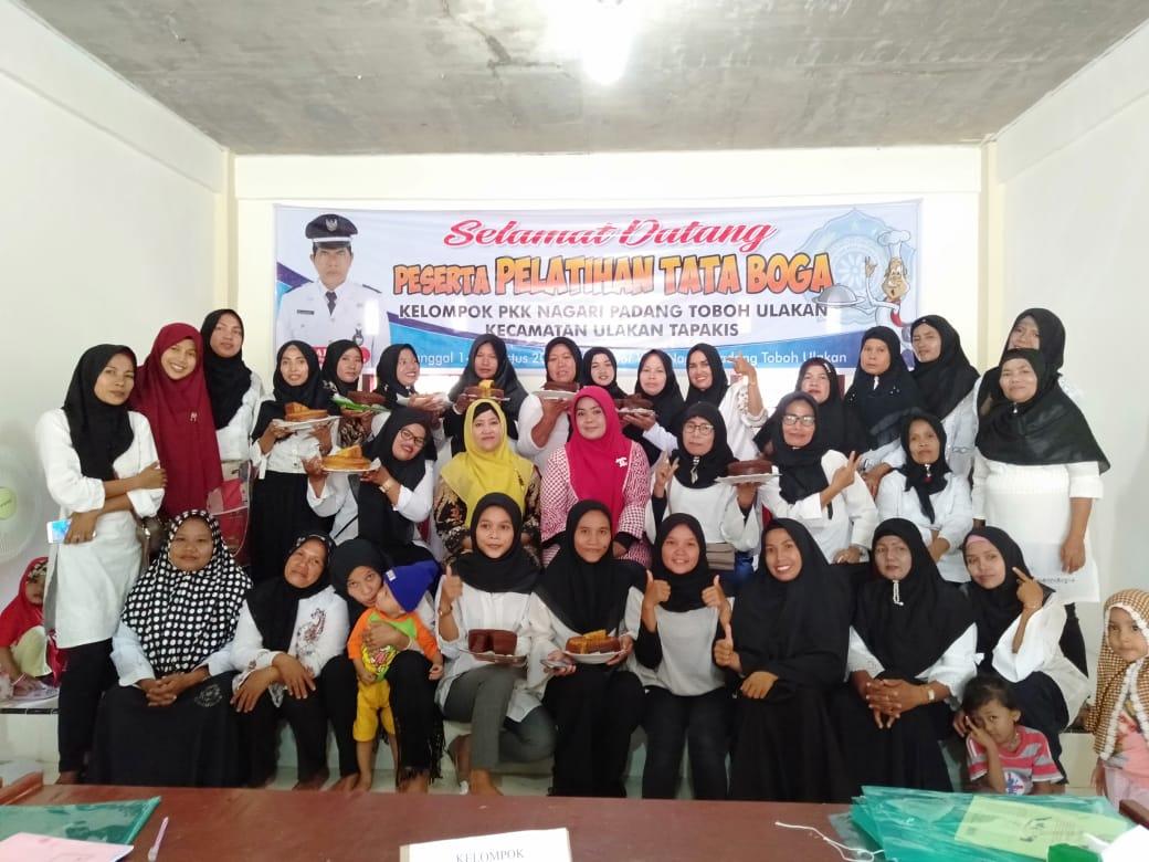 Pelatihan Tata Boga Kelompok Perempuan Pkk Nagari Padang Toboh Ulakan Nagari Padang Toboh Ulakan
